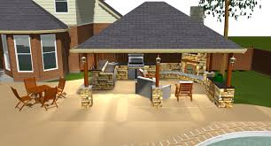 Simple Covered Patio Designs by Pool And Outdoor Kitchen Designs Home Decor Interior Exterior