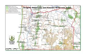 Oregon Map by Oregon Chapter Sierra Club
