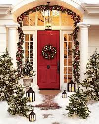 interior attractive office room in christmas decorating theme