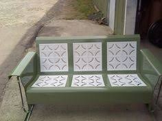 a gorgeous restored vintage metal glider this reminds me of my