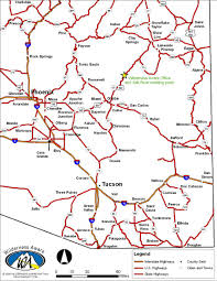 Map Of Arizona by Arizona Road Map Office Location Wilderness Awaresalt River
