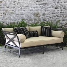 Modern Outdoor Sofa by X Back Daybed Modern Outdoor Furniture Terra Patio