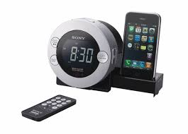 sony icf c7ip clock radio for ipod and iphone with hidden sliding