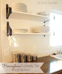 kitchen straight herringbone tile backsplash tutorial create enjoy