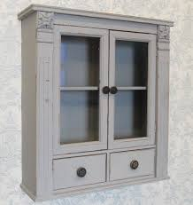 mirrors french shabby chic grey painted wooden wall cabinet
