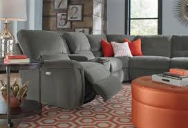 Lazy Boy Furniture Outlet Seven Piece Reclining Sectional Sofa With Cupholders By La Z Boy