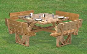 plan square picnic table 50
