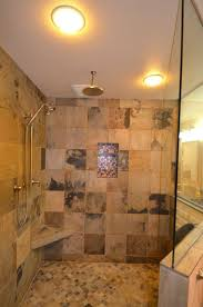 mediterranean bathroom with rainfall shower head trendy rainfall