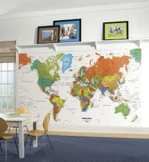 Kids World Map World Map Decor For Kids Room 4 Best Kids Room Furniture Decor