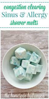 homemade vapor rub shower cubes allergy bath bombs