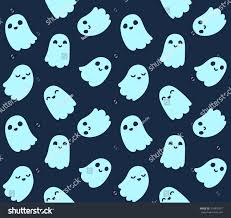 halloween background seamless pattern cute cartoon stock vector
