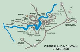 West Tennessee Map by Cumberland Mountain State Park U2014 Tennessee State Parks
