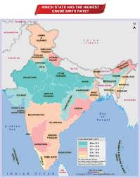 India Map Quiz by Which State Has The Highest Crude Birth Rate