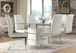 leather white dining chairs winda 7 furniture dining room white modern diningroom furniture packages with glass tabletop and bright leather look