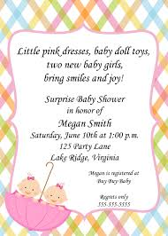 Invitation Cards For Baby Shower Templates Twin Baby Shower Invitations Theruntime Com