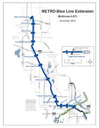 Metro Lines Map by City Of Golden Valley Mn Metro Blue Line Extension Map Large