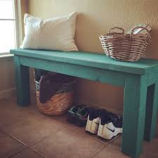 White Entryway Table by Simple 2x4 Diy Entryway Bench With Custom Mixed Annie Sloan Chalk