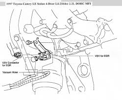 where is egr vsv located on 1997 4cyl toyota camry