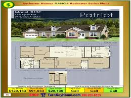 Home Floor Plans And Prices by Patriot Rochester Modular Home Model Jr13c Ranch Plan Price