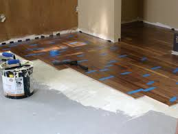 Laminate Flooring No Transitions Installing Hardwood Flooring Over Concrete How Tos Diy