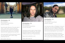 TinderDoneForYou     s top rated headshots  including one reject  and sample profiles for comparison  Swipe left for  quot straight quot  profile samples  Engadget