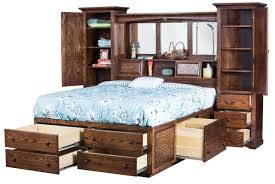 Wall Unit Storage Bedroom Furniture Sets Indiana Trail Wall Unit Platform Bed From Dutchcrafters Amish