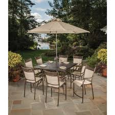 hampton bay aria 5 piece patio high dining set fcs80223st the