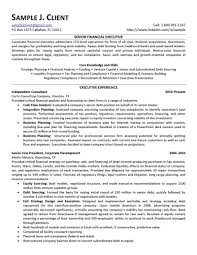 Resume Examples For Banking  finance and accounting resume
