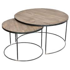 furniture intriguing round nesting wood top coffee table design