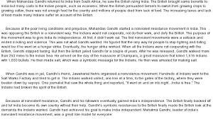 Research paper about gandhi   report    web fc  com