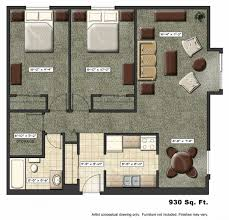 contemporary studio apartment layout design ideas with