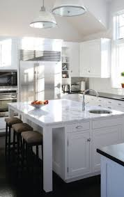 Marble Top Kitchen Islands by Gripping Marble Top Kitchen Island With Round Undermount Stainless