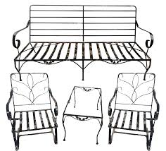 Black Wrought Iron Patio Furniture Sets by Vintage Wrought Iron Outdoor Furniture Set Of 4 Chairish
