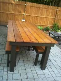 Building Plans For Picnic Table Bench by Building Plans Patio Table With Built In Drink Coolers Building