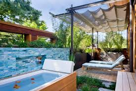 awesome outdoor home swimming pool deco combine divine rock bench