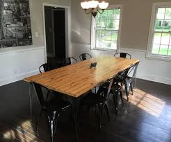 Dining Room Table Pictures Dining Room Table From Reclaimed Wall Studs 9 Steps With Pictures