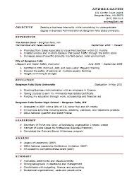Internship Resume Sample Resume and Template