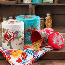 the pioneer woman garden meadow 3 piece canister set kitchen things