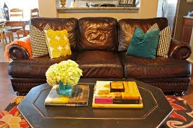 Brown And Yellow Living Room by Yellow And Teal Living Room Homes Design Inspiration