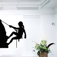 compare prices on people wall decals online shopping buy low dsu vinyl wall decals girl rock climber sport people home vinyl decal wall stickers for kids