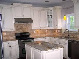 Aluminum Kitchen Backsplash Granite Countertop Wall Color With White Cabinets Tile Patterns