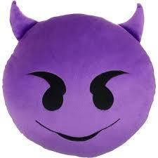 emoji expressions purple devil pillow walmart com idolza