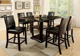 furniture of america dark cherry finia 7 piece counter height