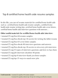 Home Health Aide Resume Template Home Health Aide Sample Resume Free Resume Example And Writing