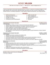 Sample Logistics Resume by Organizational Development Specialist Sample Resume Cheque