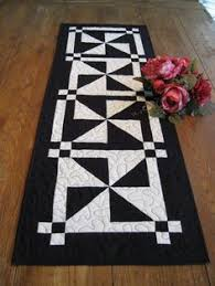 Quilted Table Runners by Patchwork Quilted Red Black And Cream Table Runner By Stephsquilts
