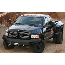 Dodge Ram Black - fab fours front winch bumper in black for 03 05 dodge ram 2500