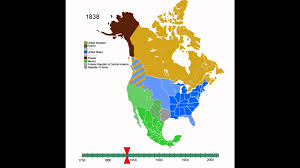 Mexico Map 1800 by Animated History Of North America Youtube