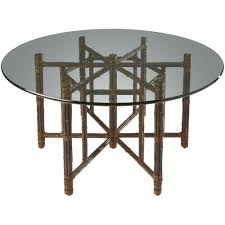 Bamboo Dining Room Furniture by Square Table With Four Legs In Black Bamboo Contemporary