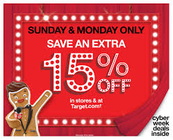 target black friday 2017 onlien target announces two day cyber stores spectacular 15 percent off